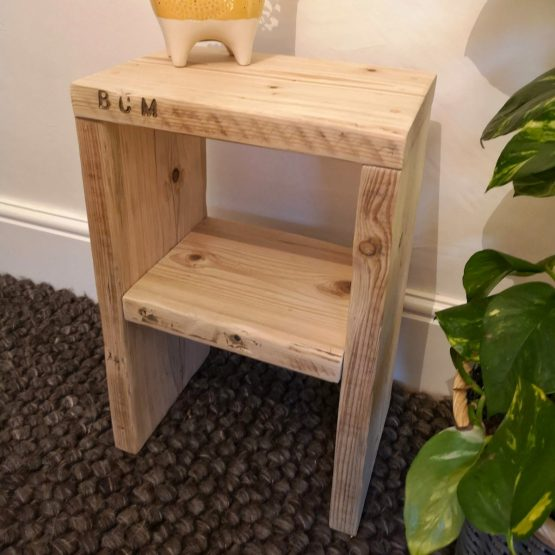 A little reclaimed timber side table